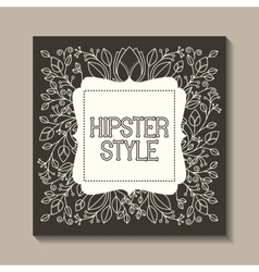 Card retro vintage frame vector
