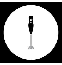 Simple black kitchen hand blender icon eps10 vector