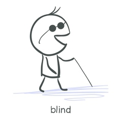 Blind vector image