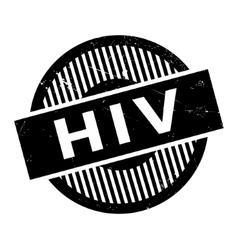 Hiv rubber stamp vector