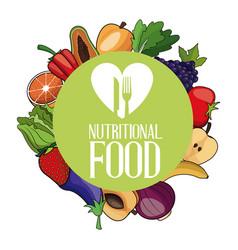 nutritional food ingredients organic poster vector image