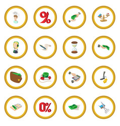 Bank icon circle vector