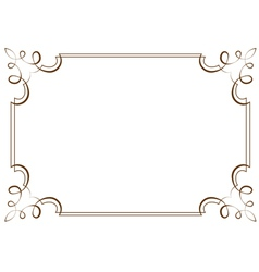 Horizontal frame element for design vector