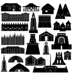 Architecture africa-1 vector