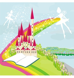 Magic Fairy Tale Princess Castle vector image