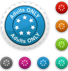 Adults only award vector