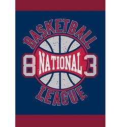 Basketball national league 83 vector