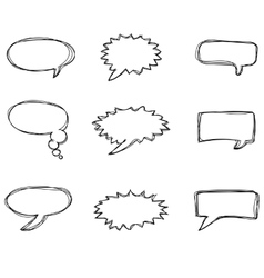 Different speech bubbles vector