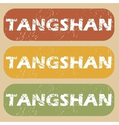 Vintage tangshan stamp set vector