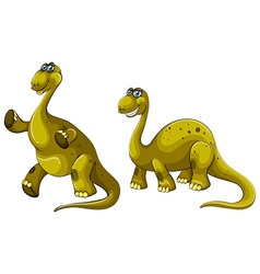 Green dinosaurs with long necks vector