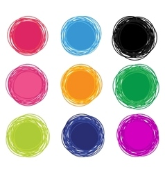 Abstract Emblems Design Set vector image