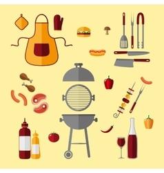BBQ icon set vector image vector image