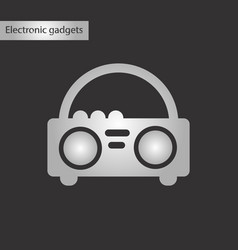 Black and white style icon tape recorder vector