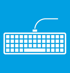 Black computer keyboard icon white vector