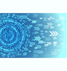 blue future technology arrow background vector image