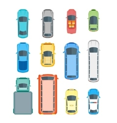 Cars Top View Set vector image vector image