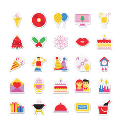 Christmas and celebration colored icons 9 vector