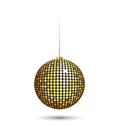 Christmas ball isolated on white vector image vector image