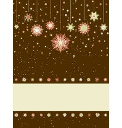 Christmas greeting card with snowflakes EPS 8 vector image