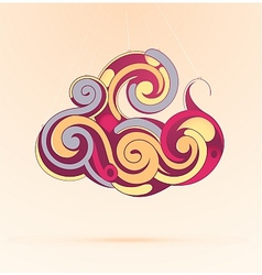 Creative cloud as graphic desig element vector