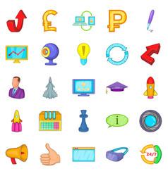 designer freelancer icons set cartoon style vector image vector image