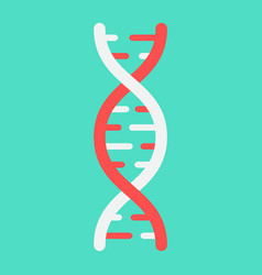 dna flat icon medicine and healthcare genetic vector image