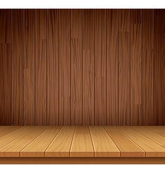 empty wooden shelf background vector image vector image