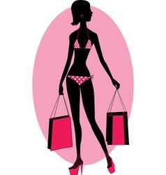 girl in a bikini vector image vector image