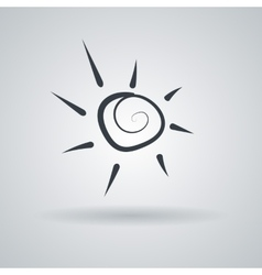Icon with the stylized spiral sun vector