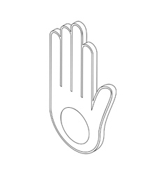 Jainism icon isometric 3d vector
