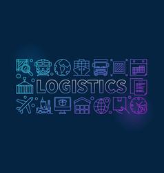 Logistics colorful vector