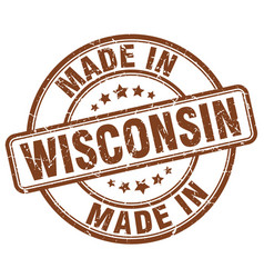 Made in wisconsin vector