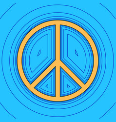 peace sign sand color icon vector image vector image