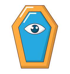 pharaoh coffin icon cartoon style vector image