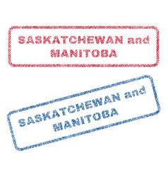 Saskatchewan and manitoba textile stamps vector