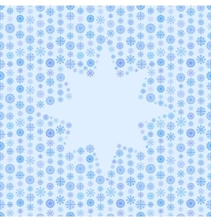 Seamless blue color pattern snowflake or star vector