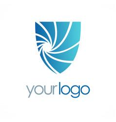 shield guard logo vector image vector image