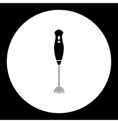 simple black kitchen hand blender icon eps10 vector image vector image