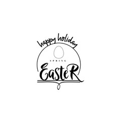 typographic badges - happy easter on the basis of vector image vector image