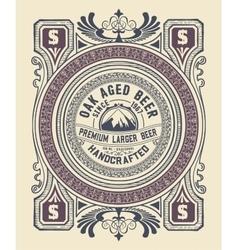 Vintage label design for beer and Wine label vector image vector image
