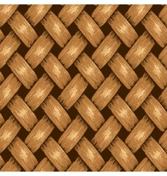 Wicker seamless background wooden basket textured vector