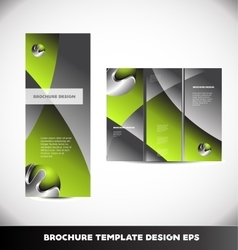 Green metal sphere brochure layout vector