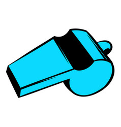 blue sport whistle icon icon cartoon vector image