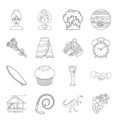 Beauty profession sport and other web icon in vector
