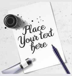 Calligraphy mock up vector