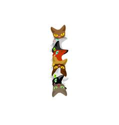Letter i cat font pet alphabet symbol home animal vector
