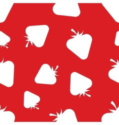 Pattern silhouette strawberries vector
