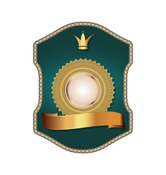 Golden vintage template-emblem and heraldry vector