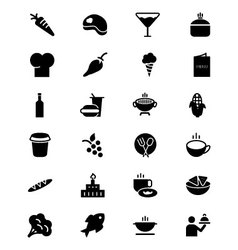 Food solid icons 2 vector
