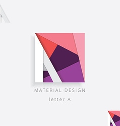 Letter a design element for business visu vector